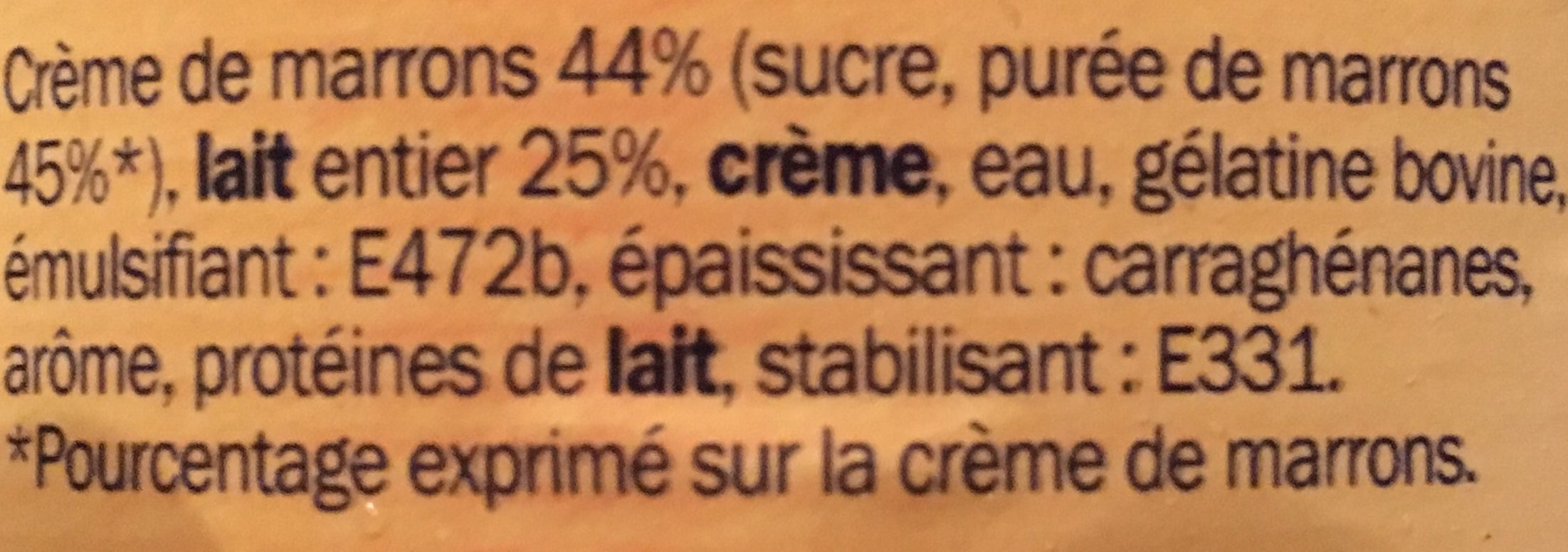 Mousse la cr me de marrons 4 x 11 5 cl delisse 4 73 g 4 11 5 cl - Mousse a la creme de marron ...