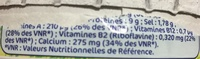 Fromage fondu boîte ronde 20% Mat. Gr. portions - Informations nutritionnelles - fr
