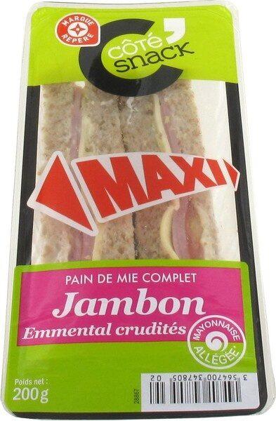 Sandwich maxi jambon/emmental crudités - Product