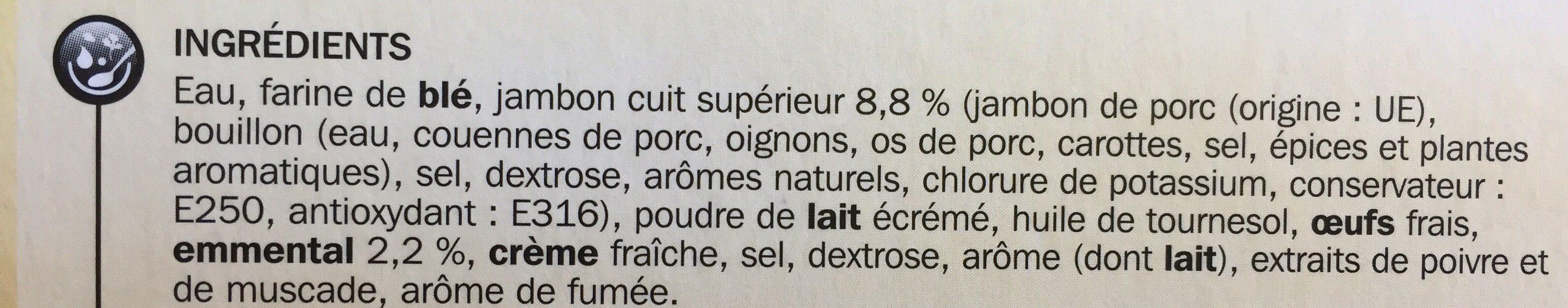 Crêpes 1/2 lune jambon/emmental x 20 - Ingrédients - fr