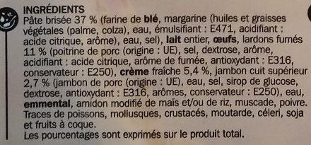 Quiches lorraine à la crème - Ingrediënten - fr