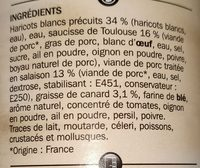 Cassoulet toulousain - Ingredients