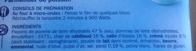 Parmentier de Poisson - Ingrédients - fr