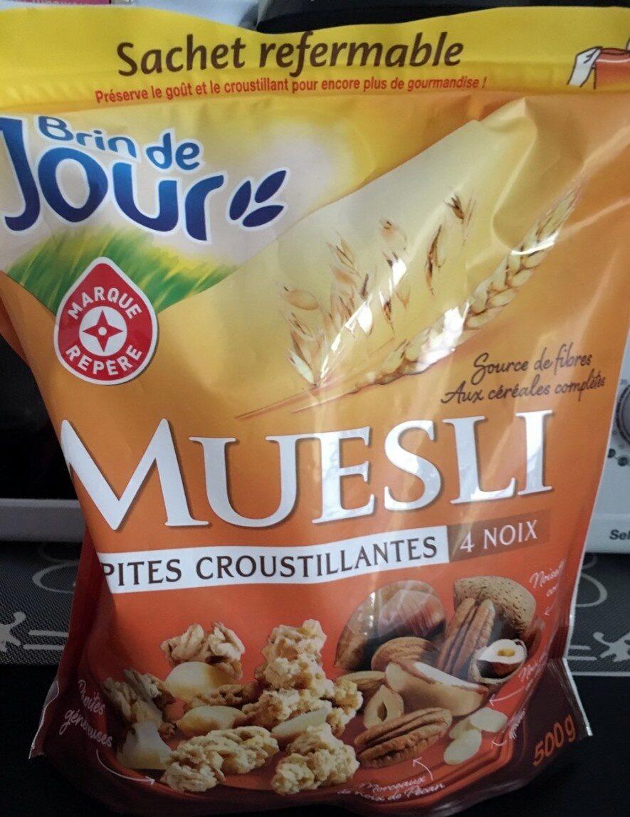 Muesli Pépites croustillantes 4 noix - Produit - fr