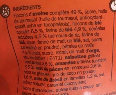 Muesli Pépites croustillantes 4 noix - Ingrédients - fr