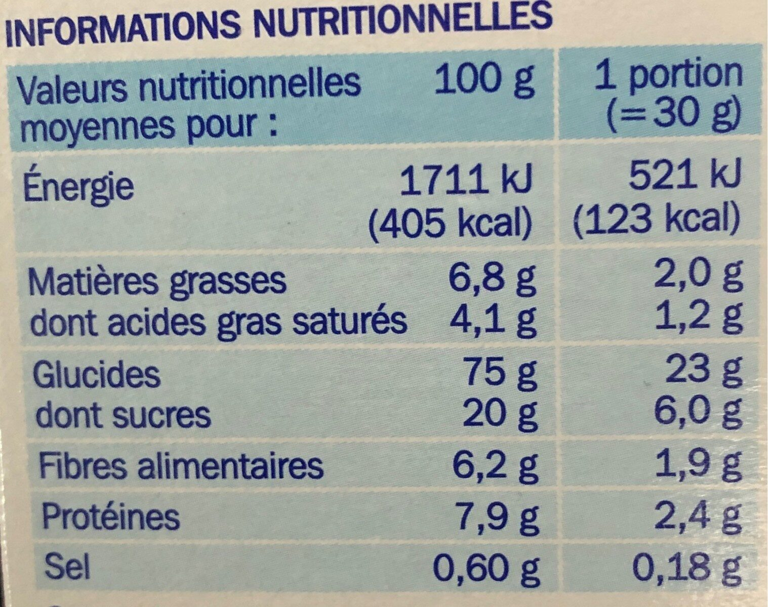 Forme flakes chocolat noir - Nutrition facts - fr
