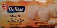 Yaourt au lait entier, Saveur vanille (8 pots) - Producto