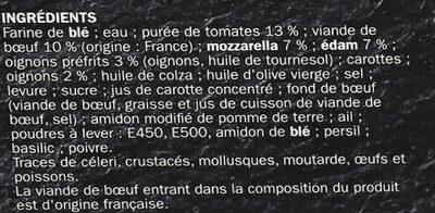 Pizza Cuite sur pierre Bolognaise - Ingrédients - fr