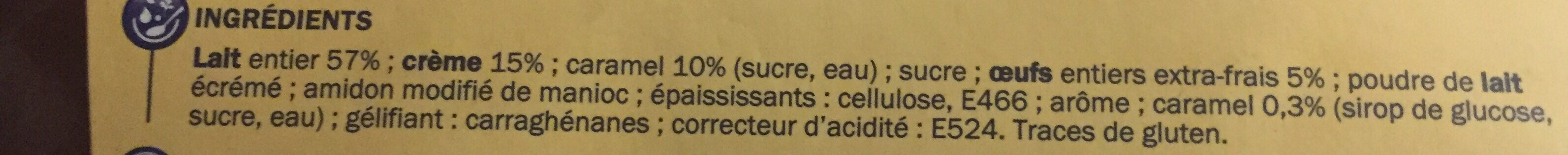 Petit pot de crème caramel - Ingredients