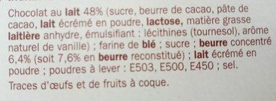 Biscuits tablette chocolat au lait - Ingrediënten