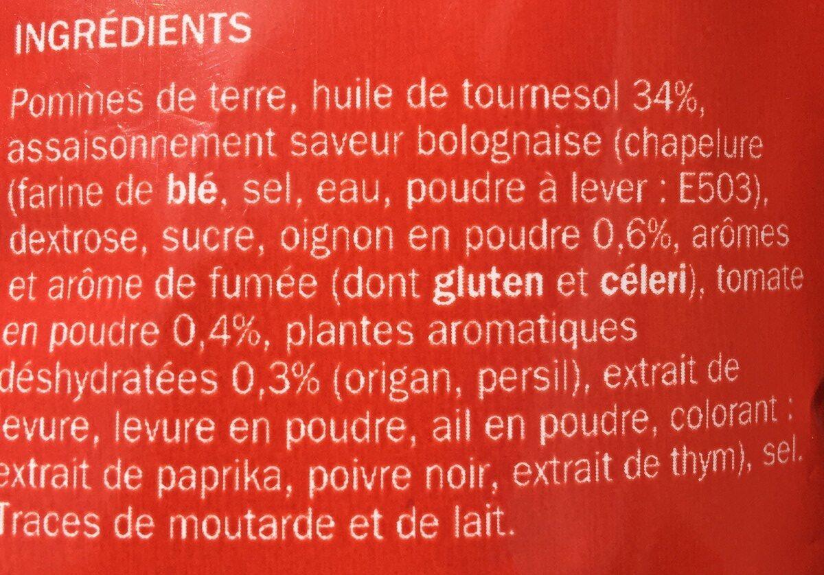 Chips saveur bolognaise - Ingrediënten