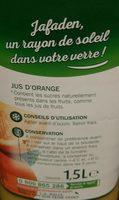 Pur jus d'orange - Ingredients - fr