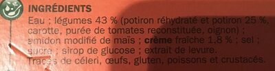 Velouté de Potiron - Ingrédients - fr