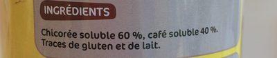 Chicorée café soluble - Ingrédients - fr