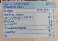 Boisson au soja nature brique - Informations nutritionnelles - fr