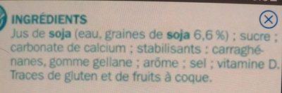 Boisson au soja calcium - Ingrédients - fr