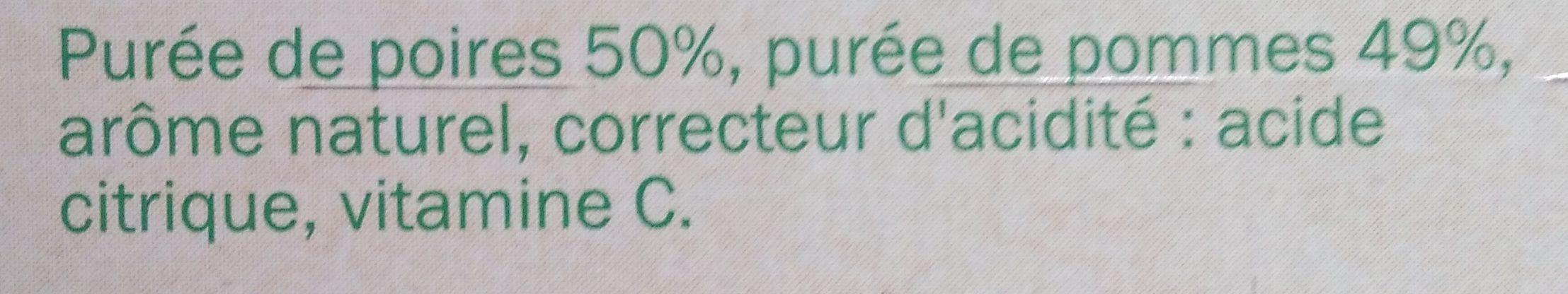 Douceur du verger pomme poire marque rep re 400g - Acide citrique leclerc ...