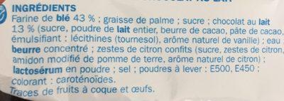 Sprits nappés de chocolat au lait - Ingrédients