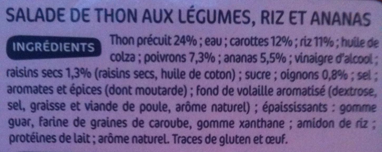 Salade Indienne au Thon - Ingrédients - fr