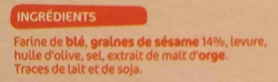 Gressins Sésame - Ingrediënten - fr