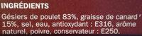 Gésiers de volaille confit - Ingredients - fr