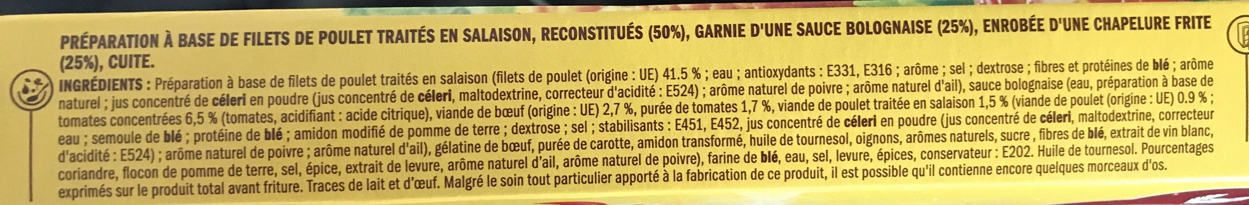 Escalopes bolognaise x 2 - Ingrediënten