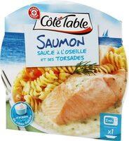 Pavé de saumon sauce oseille et ses pâtes - Produit
