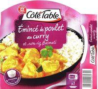 Emincé de poulet au curry et son riz Basmati - Produit