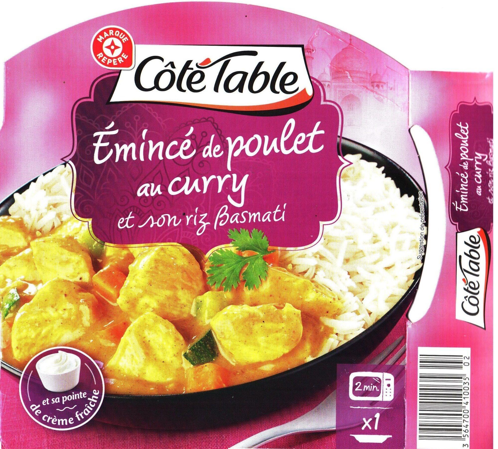 Emincé de poulet au curry et son riz Basmati - Produit - fr