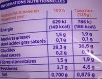 Riz basmati nature - Informations nutritionnelles