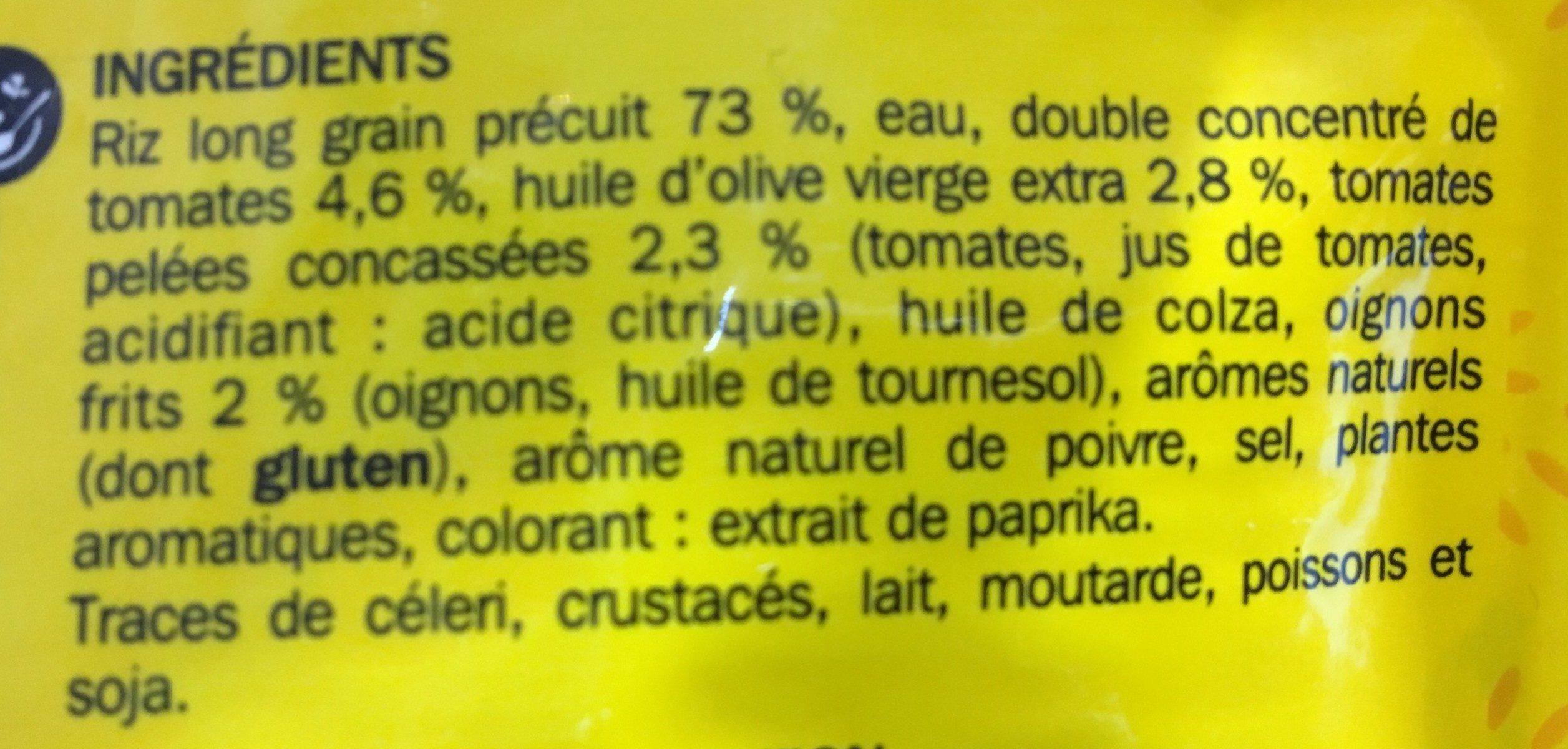Riz a la mediteraneenne doyp - Ingrediënten - fr