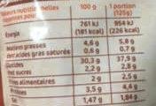 Riz a la mediteraneenne doyp - Voedingswaarden - fr