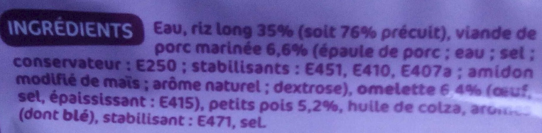 Riz cantonais doypack - Ingrédients - fr
