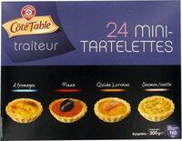 Mini-tartelettes apéritifs x 24 - Product - fr