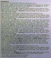 Mini-tartelettes apéritifs x 24 - Ingredients - fr