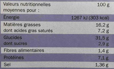 Mini-tartelettes apéritifs x 24 - Nutrition facts - fr
