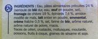Lasagnes Chèvre Épinards - Ingrédients
