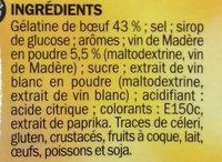 Gelée au madère - Ingrédients - fr