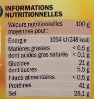 Gelée au madère - Informations nutritionnelles - fr