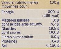 Petit pot de crème choco - Informação nutricional - fr