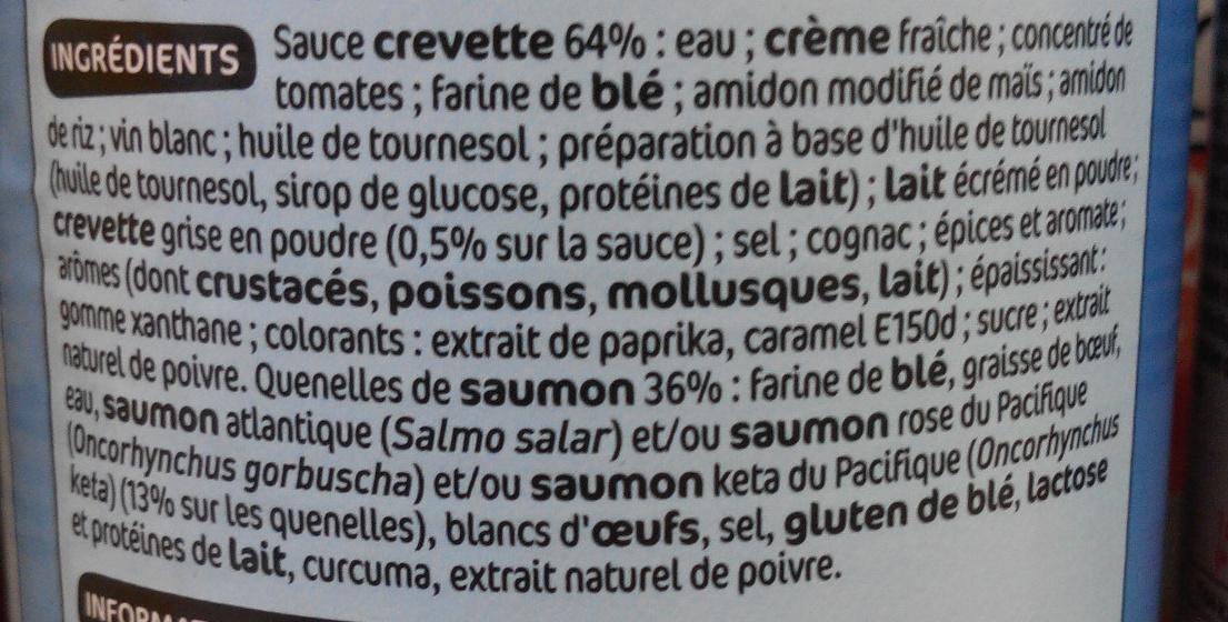 Quenelles de saumon sauce aux crevettes - Ingrediënten - fr