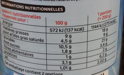 Quenelles de saumon sauce aux crevettes - Voedingswaarden - fr