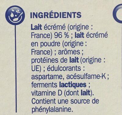 Yaourt aromatisé deli'light 0%mg - Ingrédients