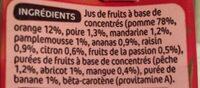 Jus multifruits à base de concentré - Ingrédients - fr