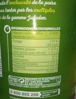 Nectar de poire - Nutrition facts