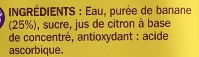 Nectar de banane - Ingredients