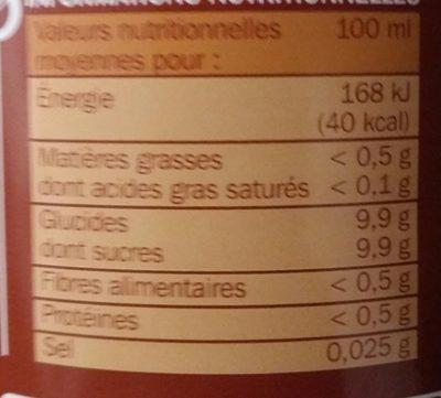Nectar de mangue - Ingrédients - fr