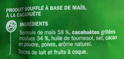 Grignot'goût cacahuete - Ingredients - fr