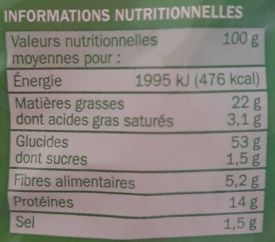 Grignot'goût cacahuete - Nutrition facts - fr