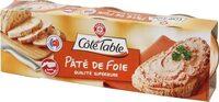 Pâté de foie pur porc x 3 - Produit - fr